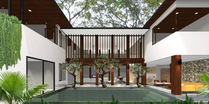 Herryj Architects Katamaran House Jakarta, Indonesia Jakarta, Indonesia Side-View Tropis 5494