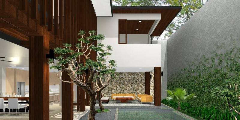 Herryj Architects Katamaran House Jakarta, Indonesia Jakarta, Indonesia Pool-View Tropis 5497