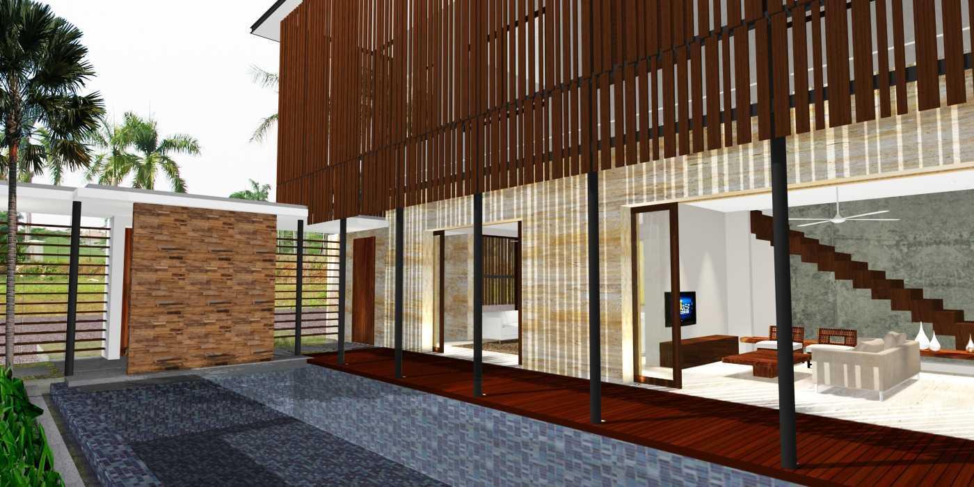 Herryj Architects Water House Jakarta, Indonesia Jakarta, Indonesia Pool-Deck-Copy Minimalis 23912