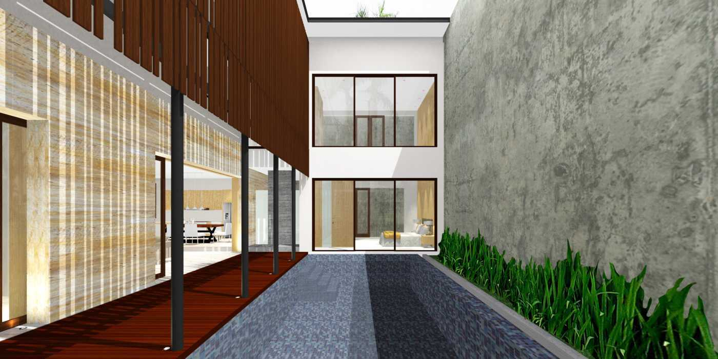 Herryj Architects Water House Jakarta, Indonesia Jakarta, Indonesia Pool-View-Copy Minimalis 23913