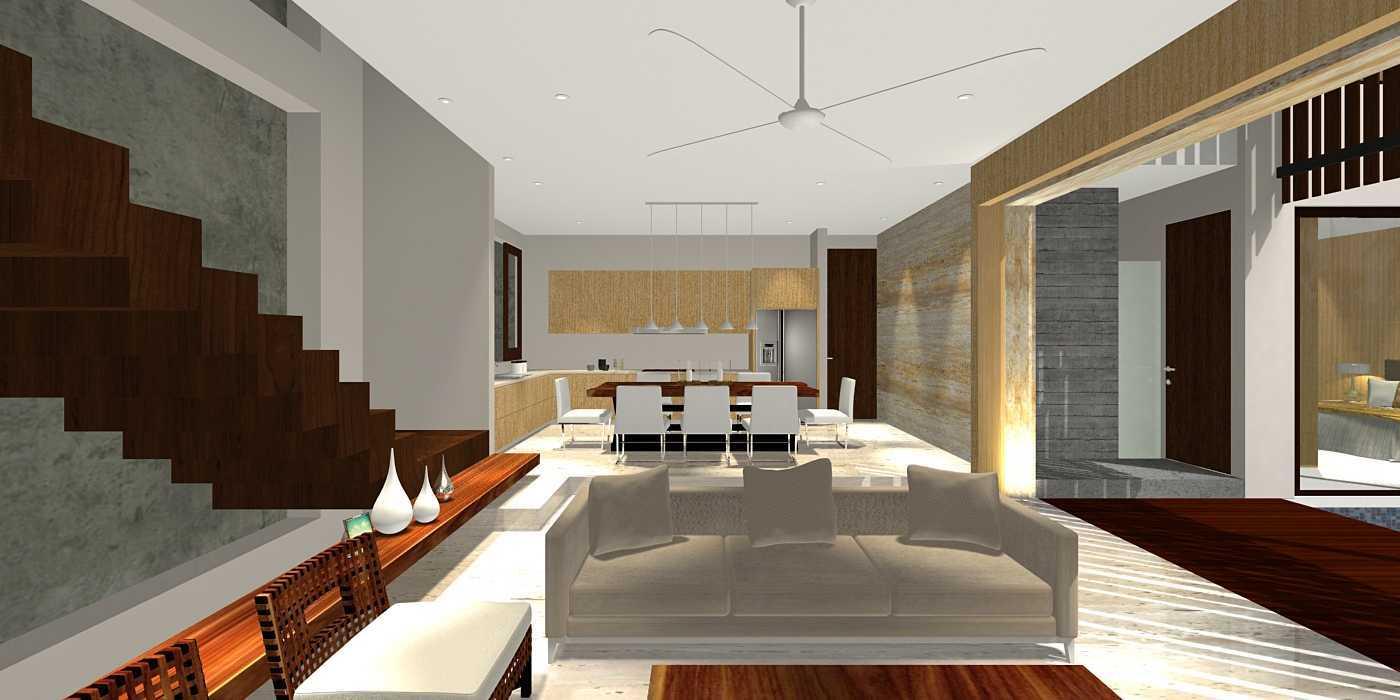 Herryj Architects Water House Jakarta, Indonesia Jakarta, Indonesia Living-Dining Minimalis 23916