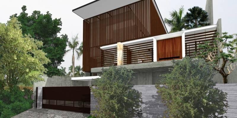 Herryj Architects Water House Jakarta, Indonesia Jakarta, Indonesia Facade-Samping Minimalis 5498