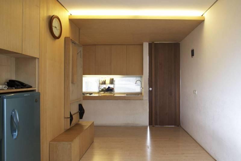 Foto inspirasi ide desain kamar tidur minimalis Folded-dining-table-1 oleh Sontang M Siregar di Arsitag