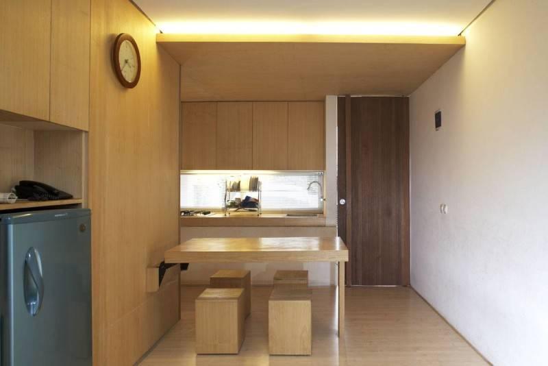 Foto inspirasi ide desain dapur Folded-dining-table-2 oleh Sontang M Siregar di Arsitag