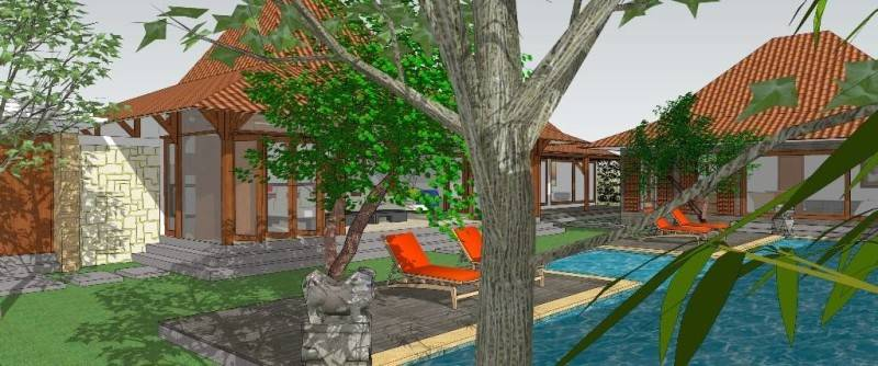 Civarch Design Studio Villa Semar At Canggu Bali, Indonesia Bali, Indonesia Perspective-2 Tradisional 5614