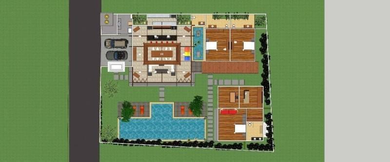 Civarch Design Studio Villa Semar At Canggu Bali, Indonesia Bali, Indonesia Ground-Floor-Plan Tradisional 5619