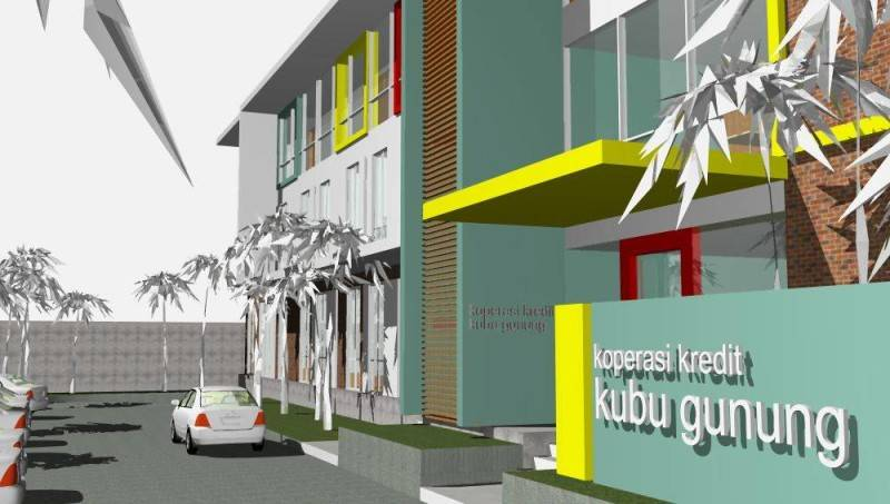 Civarch Design Studio Koperasi Kubu Gunung At Denpasar Bali, Indonesia Bali, Indonesia Facade-View  5662