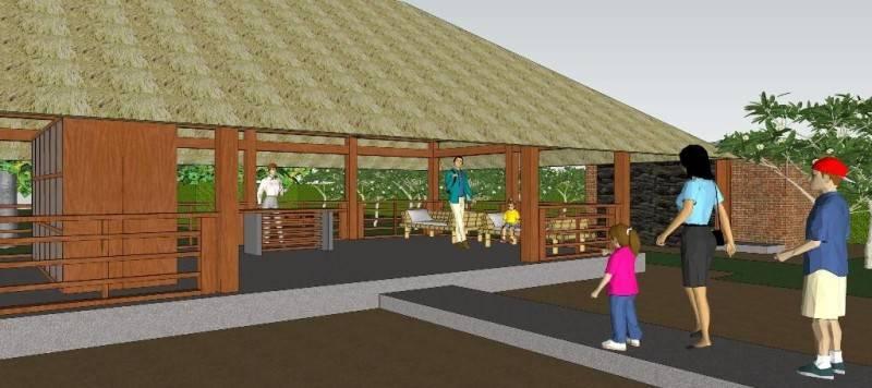 Foto inspirasi ide desain lobby tropis Lobby oleh CivArch Design Studio di Arsitag