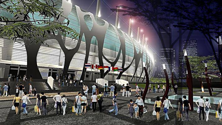 Julio Julianto Football Stadium At Bmw Garden Jakarta, Indonesia Jakarta, Indonesia Perspective-1 Kontemporer 5867