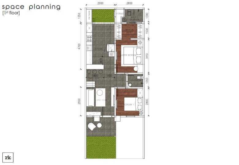 Foto inspirasi ide desain rumah skandinavia House-at-bsd-design-presentation-r00a004 oleh ruang komunal di Arsitag