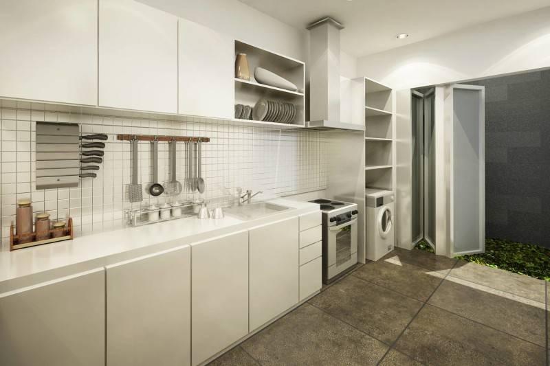 Foto inspirasi ide desain dapur minimalis Kitchen oleh ruang komunal di Arsitag
