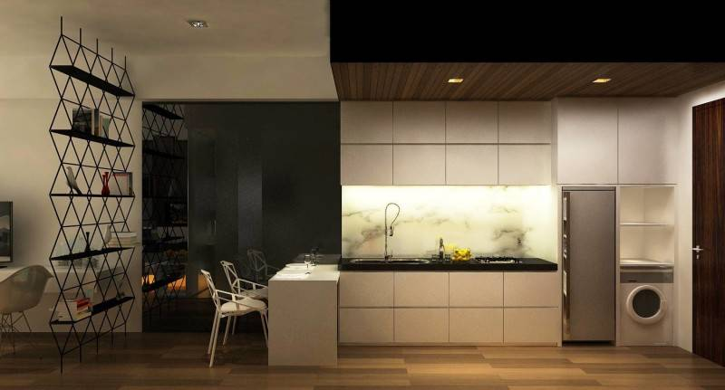 Ruang Komunal Kemang Studio Apartment Kemang Village Apartment Kemang Village Apartment Kitchen & Dining Area 2 Modern 6542