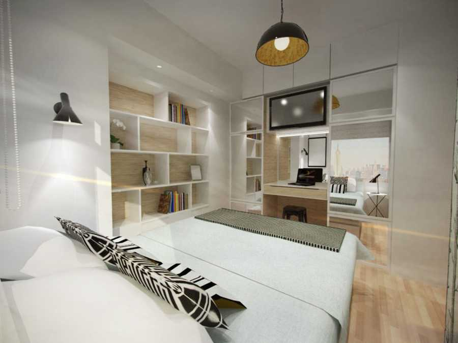 Ruang Komunal Compact Bedroom Jakarta Jakarta Bedroom Minimalis 16436