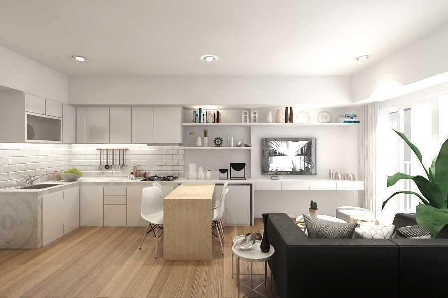 Foto inspirasi ide desain dapur kontemporer Living-2 oleh ruang komunal di Arsitag