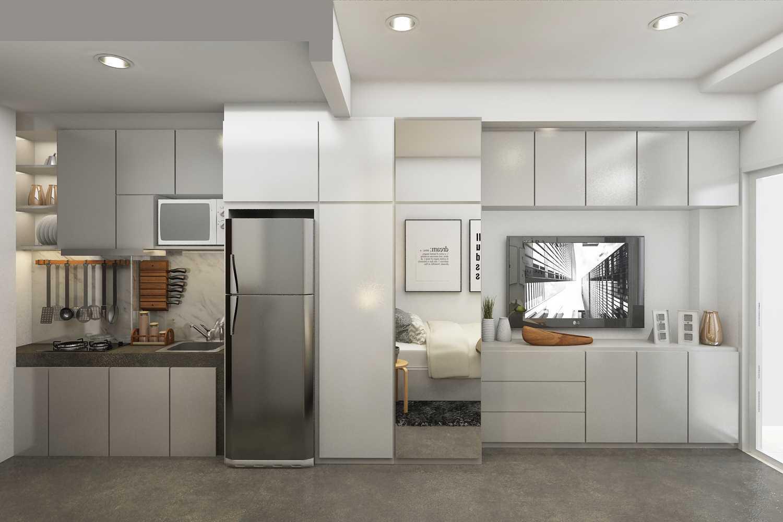 Foto inspirasi ide desain dapur minimalis 3-a-r05 oleh ruang komunal di Arsitag