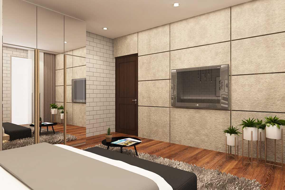 Foto inspirasi ide desain kamar tidur industrial Master bedroom oleh ruang komunal di Arsitag