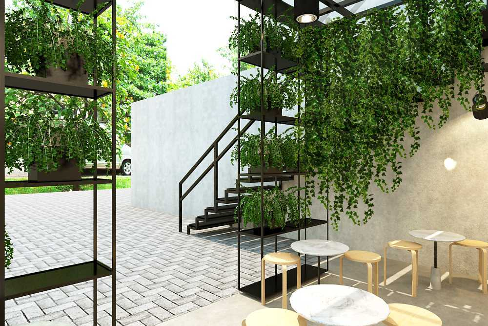 Ruang Komunal Serendipity Coffee Bogor, Kp. Parung Jambu, Kota Bogor, Jawa Barat, Indonesia Bogor, Kp. Parung Jambu, Kota Bogor, Jawa Barat, Indonesia Seating Area Outdoor Modern 49746