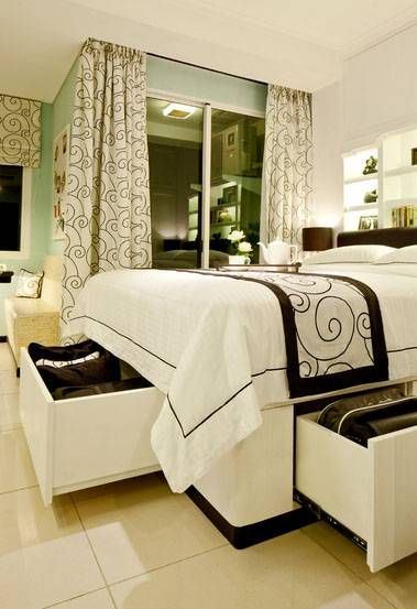 Iwan Sastrawiguna Black & White Apartment United States United States Bed-With-Storage Kontemporer 6658