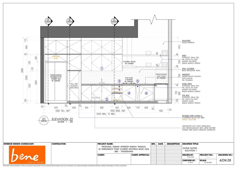 Bene Kitchen Desain Bsd Bsd Plan Modern 12816
