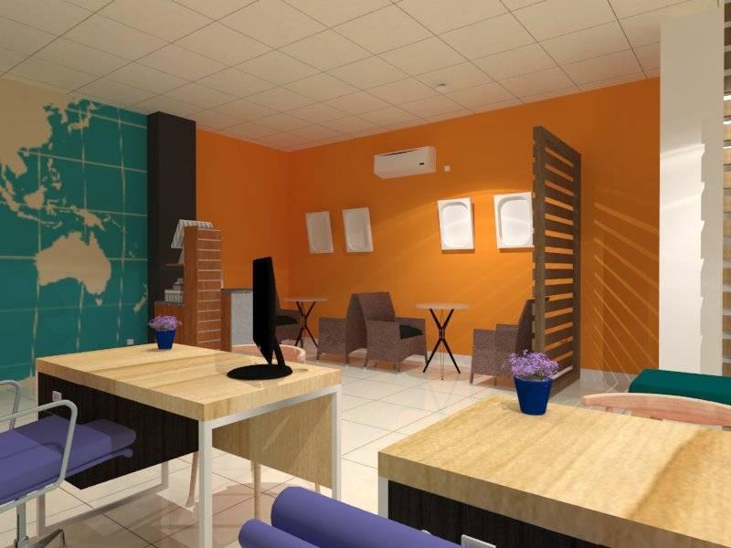 Nur Mala Sari Interior Design For Travel Agency Ruko Pino Green Pramuka Apartment Ruko Pino Green Pramuka Apartment Seating Area  6676