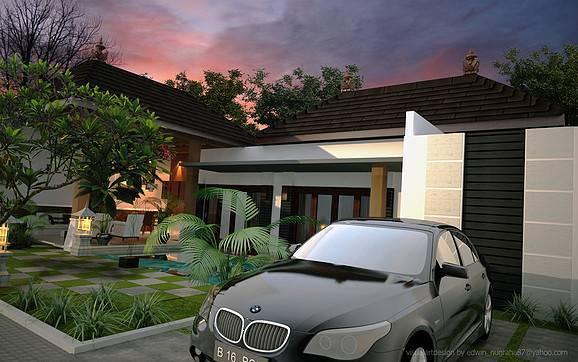 Foto inspirasi ide desain exterior tradisional Parking-area1 oleh ED Architect di Arsitag