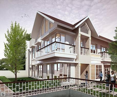 Ed Architect Townhouse Melrose At Cilandak Jakarta, Indonesia Jakarta, Indonesia Side-View Tropis 6710