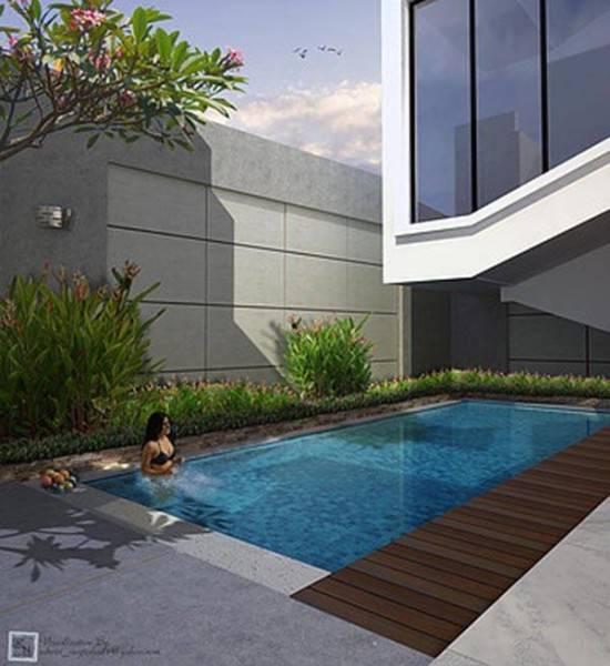 Ed Architect Townhouse Melrose At Cilandak Jakarta, Indonesia Jakarta, Indonesia Pool-Inside Tropis 6742