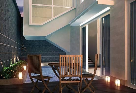 Ed Architect Townhouse Melrose At Cilandak Jakarta, Indonesia Jakarta, Indonesia Pool1 Tropis 6743