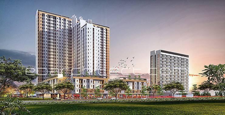 Ed Architect One Sentosa Apartment Bekasi, Indonesia Bekasi, Indonesia Facade-View2 Modern 6717