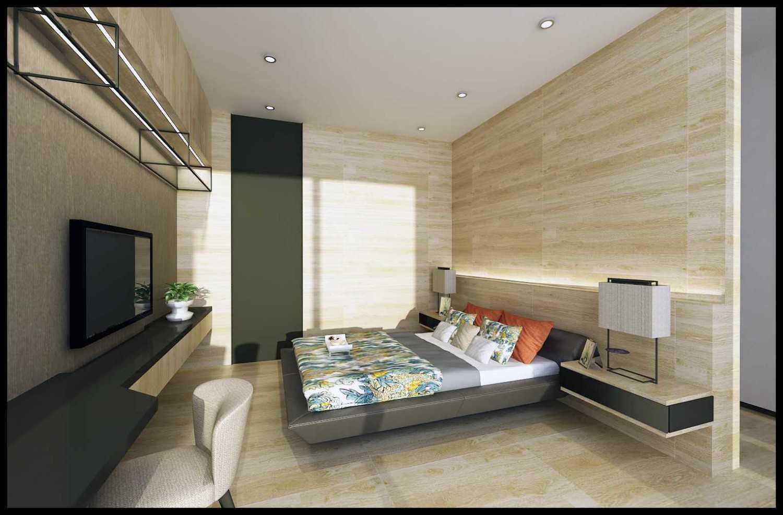 Foto inspirasi ide desain kamar tidur anak minimalis Child-berdroom-2-final-hr oleh ED Architect di Arsitag