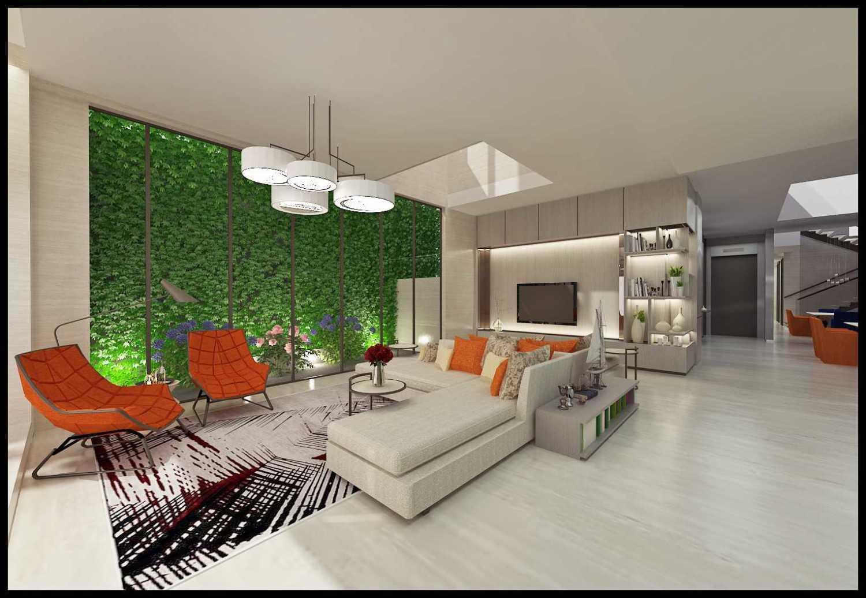 Ed Architect Modern Private House 2 Kelapa Gading, North Jakarta City, Jakarta, Indonesia Kelapa Gading, North Jakarta City, Jakarta, Indonesia Final-Ruang-Keluarga Modern 34397
