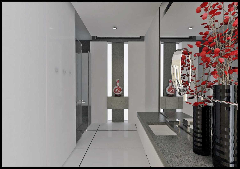Foto inspirasi ide desain kamar mandi minimalis Final-hr-bathroom oleh ED Architect di Arsitag