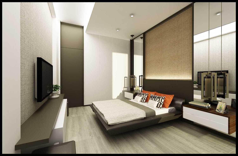 Ed Architect Modern Private House 2 Kelapa Gading, North Jakarta City, Jakarta, Indonesia Kelapa Gading, North Jakarta City, Jakarta, Indonesia Final-Hr-Guest-Bedroom Modern 34402