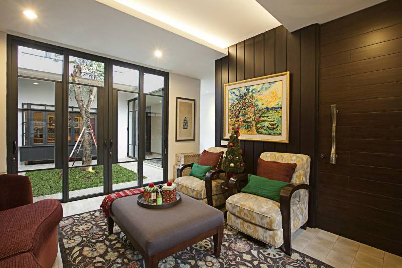 Adria Yurike Architects Bangka House Bangka, Mampang Prapatan, South Jakarta City, Jakarta, Indonesia Jakarta, Indonesia Livingroom  6920