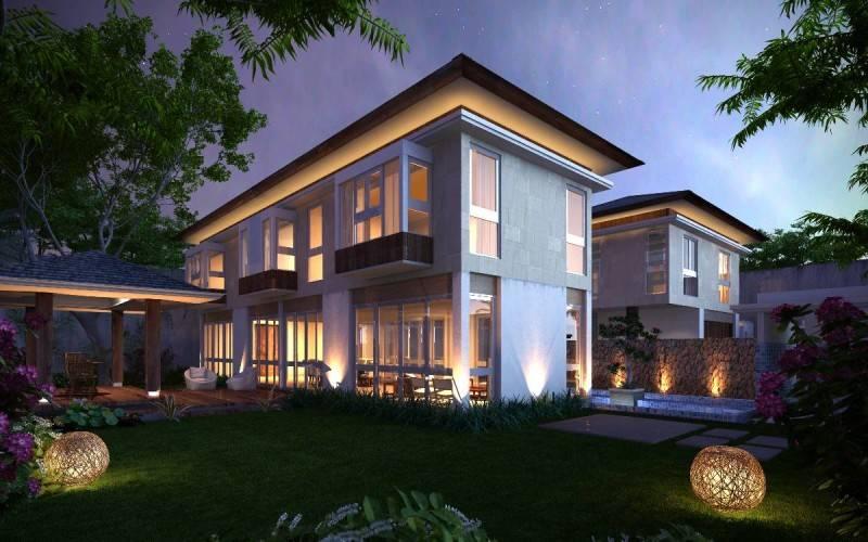 Foto inspirasi ide desain rumah Front yard oleh Adria Yurike Architects di Arsitag