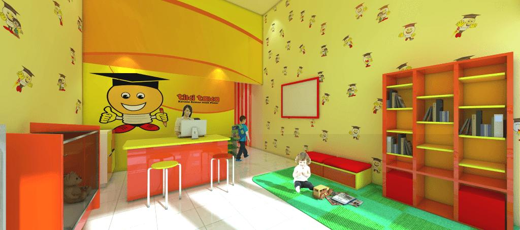 Foto inspirasi ide desain ruang belajar kontemporer Receptionist oleh sujud gunawan studio di Arsitag