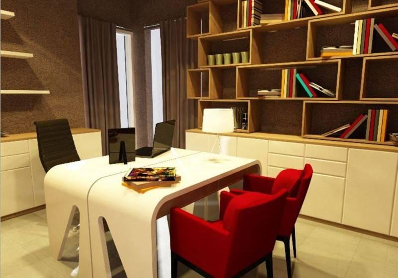 Foto inspirasi ide desain ruang belajar minimalis Work/study area oleh PT Ergonomi Cipta Karya di Arsitag
