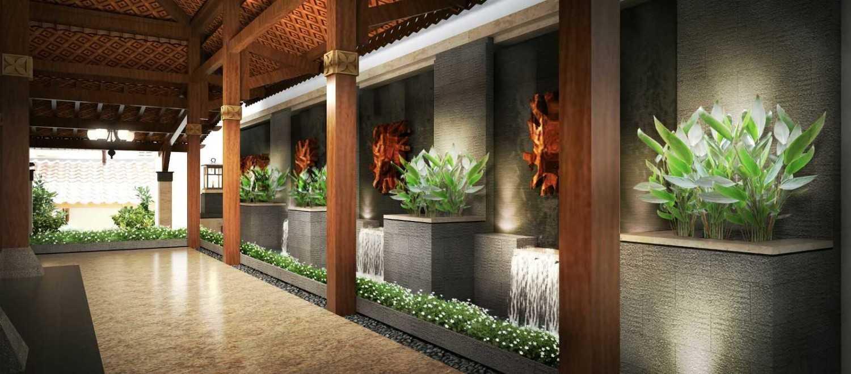 Foto inspirasi ide desain koridor dan lorong asian Terrace oleh Hendra Budi Architect di Arsitag