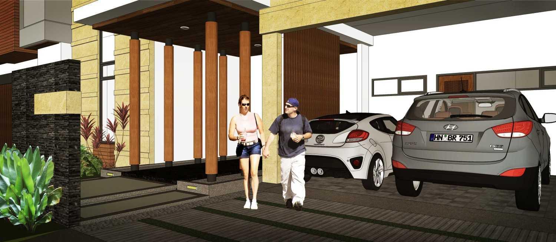 Foto inspirasi ide desain garasi modern Carport oleh Hendra Budi Architect di Arsitag