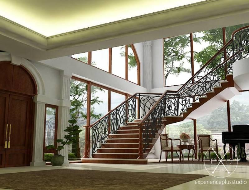 Foto inspirasi ide desain tangga klasik Stairs oleh Experience Plus Studio  di Arsitag