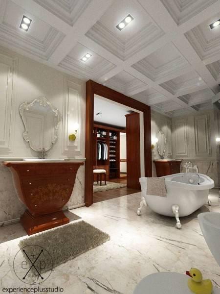 Foto inspirasi ide desain kamar mandi klasik Bathtub oleh Experience Plus Studio  di Arsitag