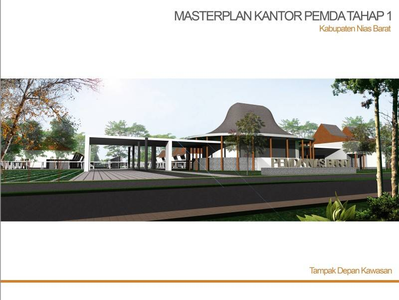 Pt. Daa Interplan Indonesia Masterplan Dprd Nias Barat Kabupaten Nias Barat Kabupaten Nias Barat Masterplan-Dprd-Nias-Barat-Tampak-Kawasan-  7242