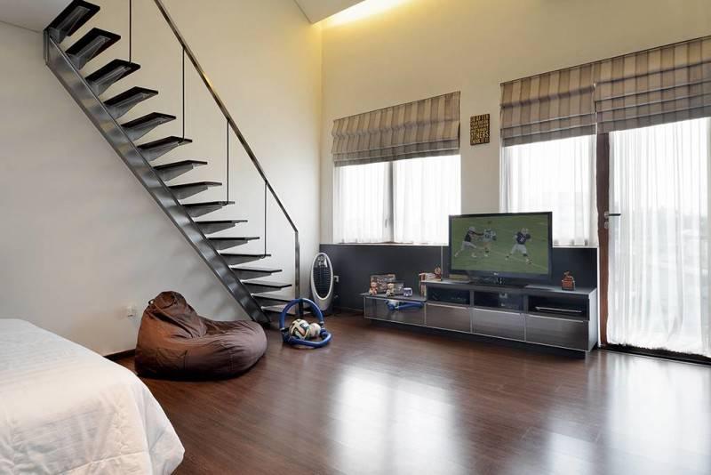 Studio Denny Setiawan Green Garden House Jakarta, Indonesia Jakarta, Indonesia Bedroom-View-1  7410