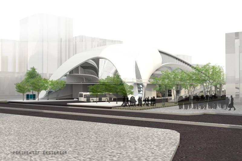 Vorze Studio Senen Transit Hub Jakarta Jakarta 3D-Perspektif-D  7737