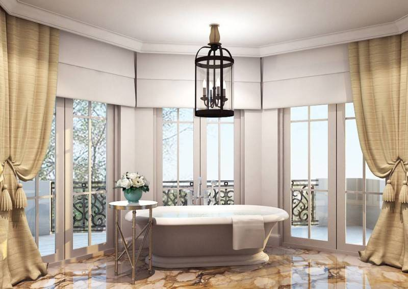 Foto inspirasi ide desain kamar mandi klasik Classic master-bathroom oleh Rieska Achmad di Arsitag