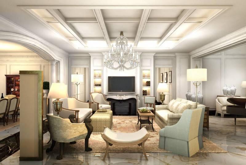 Foto inspirasi ide desain rumah klasik Living room oleh Rieska Achmad di Arsitag