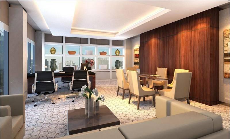 Foto inspirasi ide desain ruang kerja kontemporer Director room 3rd floor oleh Rieska Achmad di Arsitag