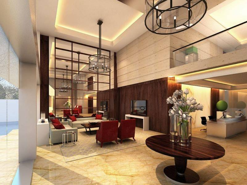 Foto inspirasi ide desain lobby minimalis Lobby view first floor oleh Rieska Achmad di Arsitag
