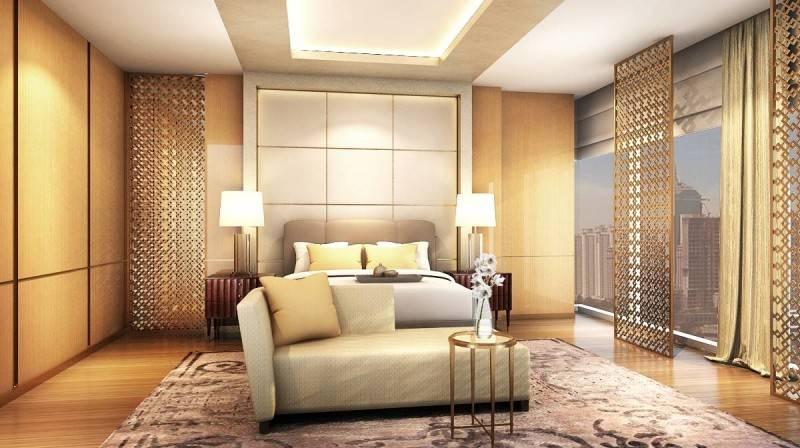 Foto inspirasi ide desain kamar tidur klasik Master bedroom apartment oleh Rieska Achmad di Arsitag