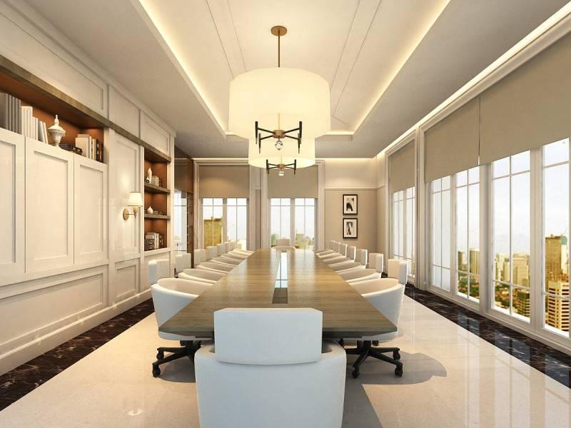 Foto inspirasi ide desain ruang meeting klasik Conference room oleh Rieska Achmad di Arsitag